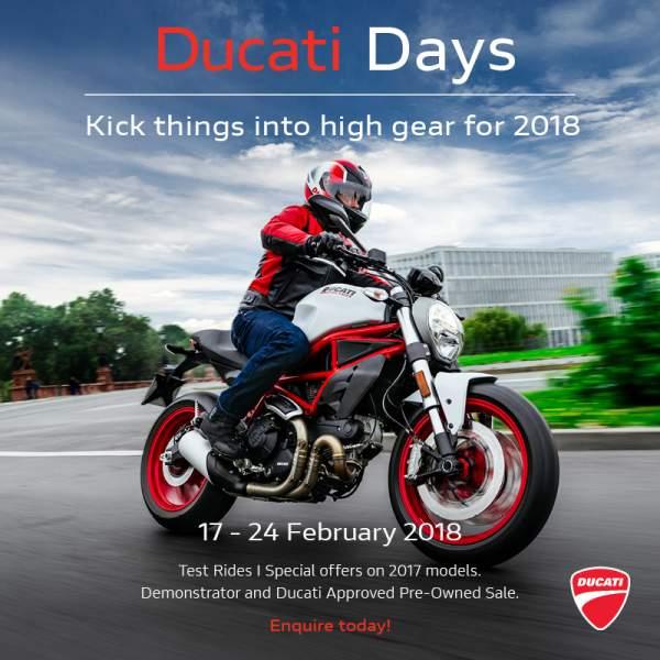 Ducati Days 17-24 February 2018