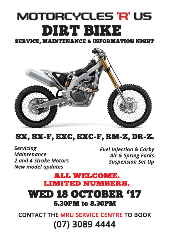 Dirt Bike Service Info Night