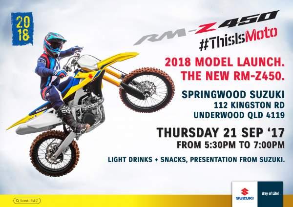 2018 Suzuki RM-Z 450 Launch Night