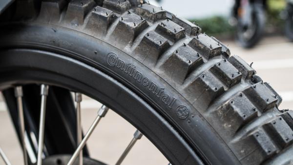 KTM 1090 Adventure R motorcycle tyre view