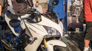 Suzuki GSX-S1000F motorcycle partial front view
