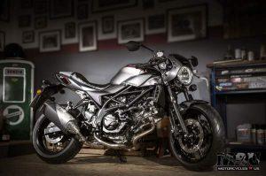 Suzuki SV650X motorcycle V-twin engine side view