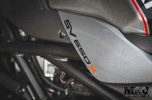 Suzuki SV650X motorcycle emblem