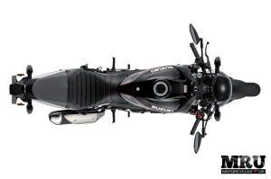Suzuki SV650X motorcycle top view