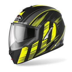 Yellow Airoh Rev 19 Ikon Helmet Side