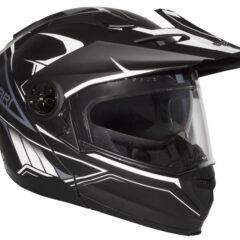 Matt Black/White RXT Safari Helmet