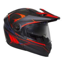 Matt Black/Neon Orange RXT Safari Helmet Right Side