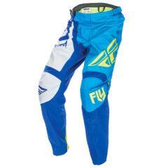 Blue/Hi Vis Fly Racing F-16 Youth Pants