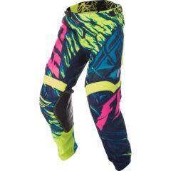 Hi-Vis/Blue/Pink Fly Racing Kinetic Mesh Pant