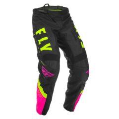 Neon Pink/Black/Hi-Vis Fly Racing F 16 Youth Pant