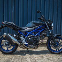 Black with Blue Suzuki SV650 2019