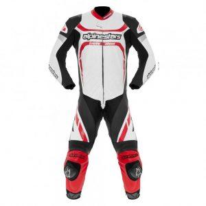 Black/White/Red Alpinestars Montegi1 Piece Suit