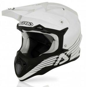 White Acerbis Impact Bombshell Helmet