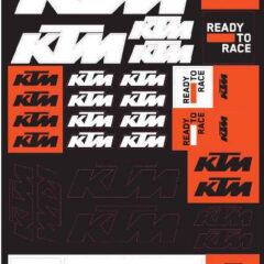 3PW210065800 KTM Corporate Sticker Set
