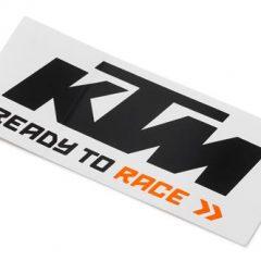 Black/White KTM Logo Sticker