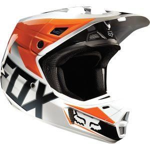Fox V2 Race Orange Helmet