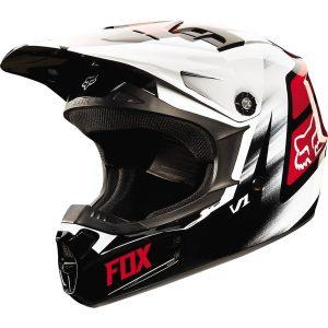 Red/Black Fox V1 Vandal Youth Helmet