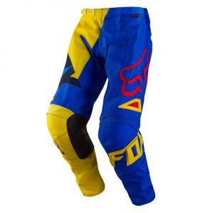 Yellow/Blue Fox Racing 180 VandalPants