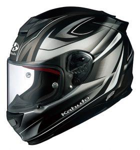 Rapid Flat Black/Silver Kabuto RT33 Helmet