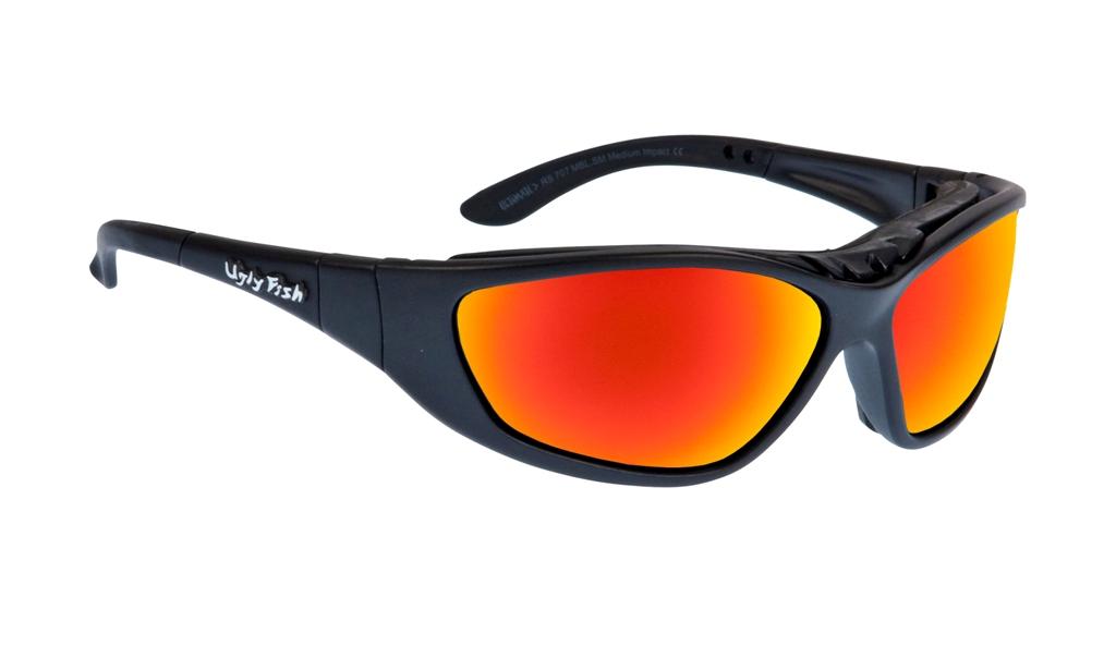 a68e2a67e057 Ugly Fish Ultimate RS707 Glasses - Matt Black Frame + Red Revo Lens ...