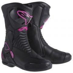 Alpinestars Stella SMX-6 Womens Boots Black/Fuchsia