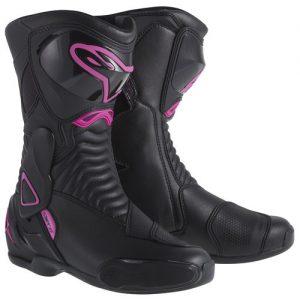 Alpinestars Stella SMX-6 Womens Boots - Black/Fuchsia