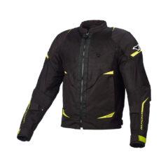 Black/Fluro Yellow Macna Hurracage Mens Jacket Front