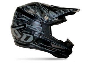 6D Camo Graphic Matte Helmet