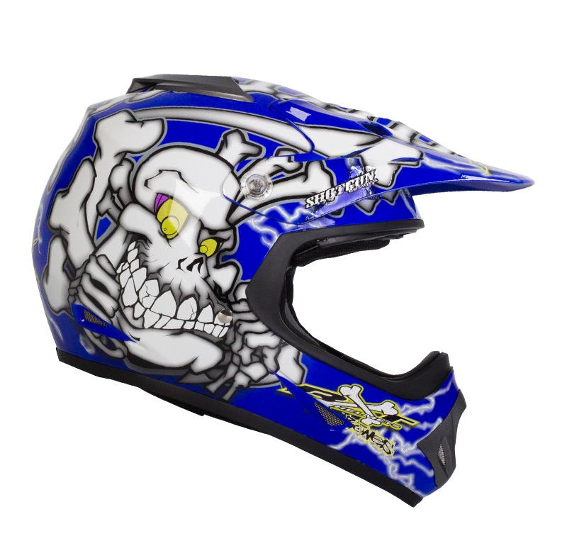 Black/Blue RXT Bones Kids Helmet