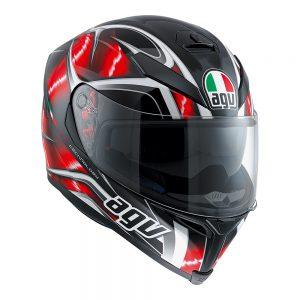 Hurricane Black/Red/White AGV K-5 S Helmet