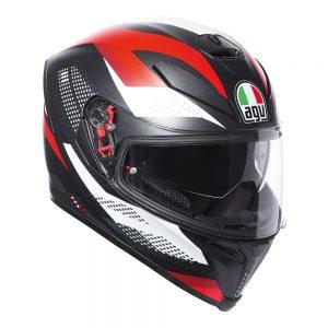 Marble Matt Black/White/Red AGV K-5 S Helmet