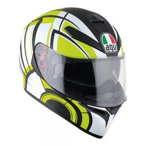 Avior White/Lime AGV K-3 SV Helmet