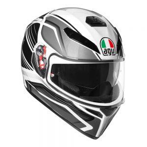Proton Black/Silver AGV K-3 SV Helmet