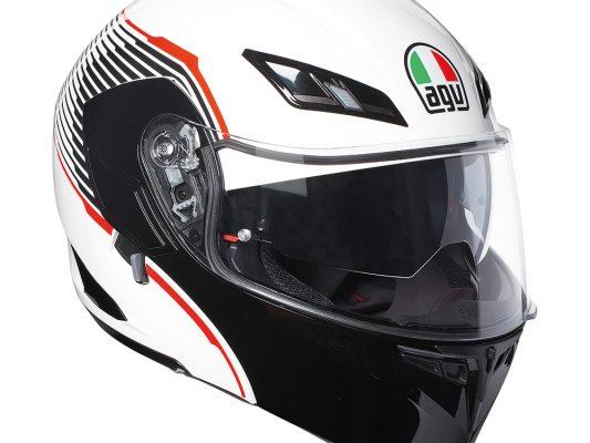 Vermont White/Black/Red AGV Compact ST Helmet