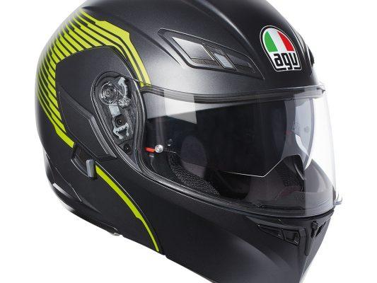 Vermont Matt Black/Yellow FluroAGV Compact ST Helmet