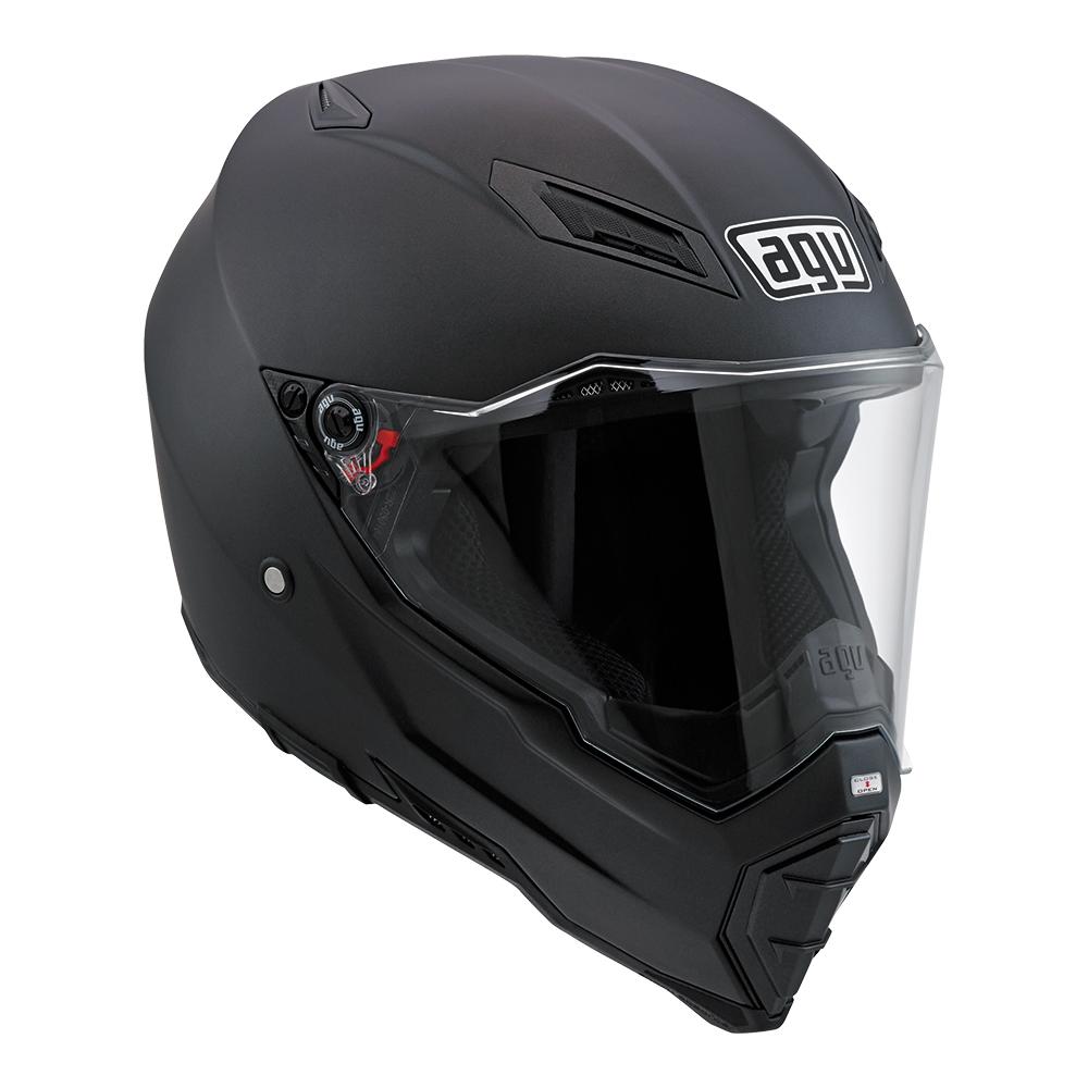 Agv AX-8 Naked Carbon Mono matt carbon full face helmet