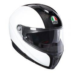 Carbon/White AGV Sportmodular Helmet