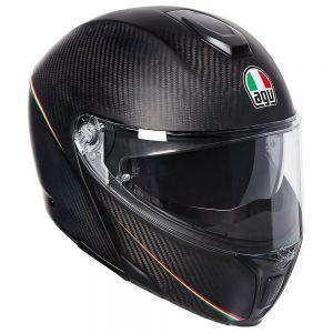 Tricolour Matt Carbon/Italy AGV Sportmodular Helmet
