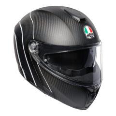 Refractive Carbon/Silver AGV Sportmodular Helmet