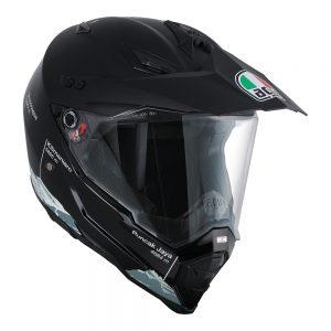 Wild Frontier Black/White AGV AX-8 Dual Evo Helmet