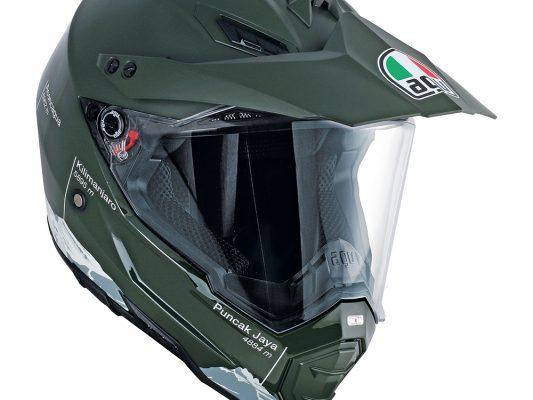 Wild Frontier Military Green/White AGV AX-8 Dual Evo Helmet