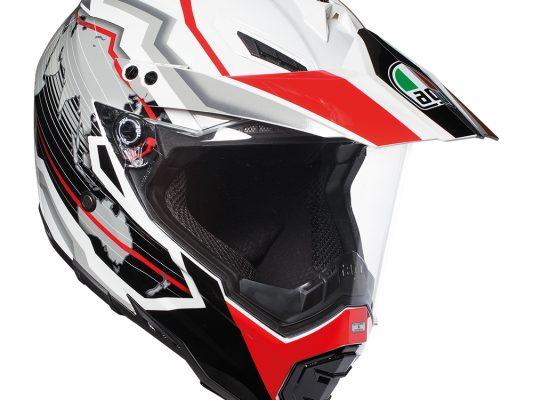 Earth White/Black/Red AGV AX-8 Dual Evo Helmet