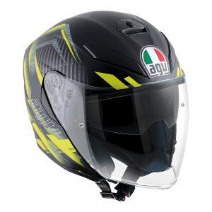 Urban Hunter Matt Black/Yellow AGV K-5 Jet Helmet
