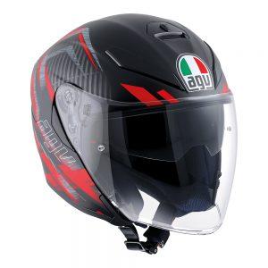 Urban Hunter Matt Black/Red AGV K-5 Jet Helmet