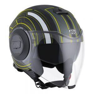 Chicago Matt Black/Yellow AGV Fluid Helmet