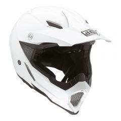 White AGV AX-8 Evo Helmet