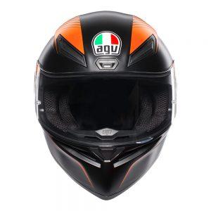 Warmup Black/Orange AGV K1 Helmet