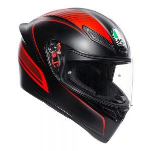 Warmup Black/Red AGV K1 Helmet
