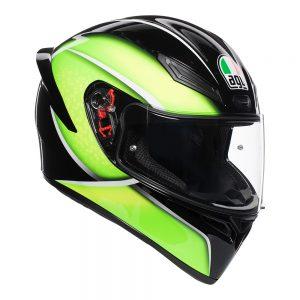 Qualify Black/Lime AGV K1 Helmet
