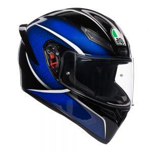 Qualify Black/Blue AGV K1 Helmet